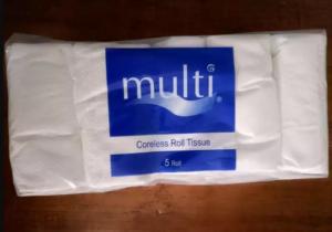 Tissue Coreless merk Green dan Multi