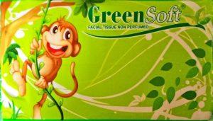 Jual tissue travel pack green